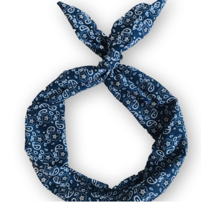 Navy Bandana Byrd Headband