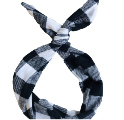B&W Buffalo Plaid Byrd Headband