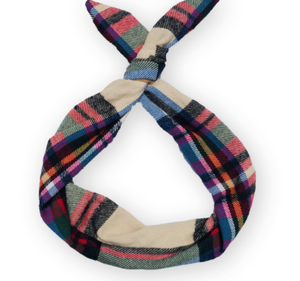 Beige Plaid Byrd Headband