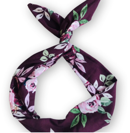 Purple Floral Byrd Headband