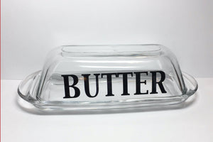 Glass Butter Dish