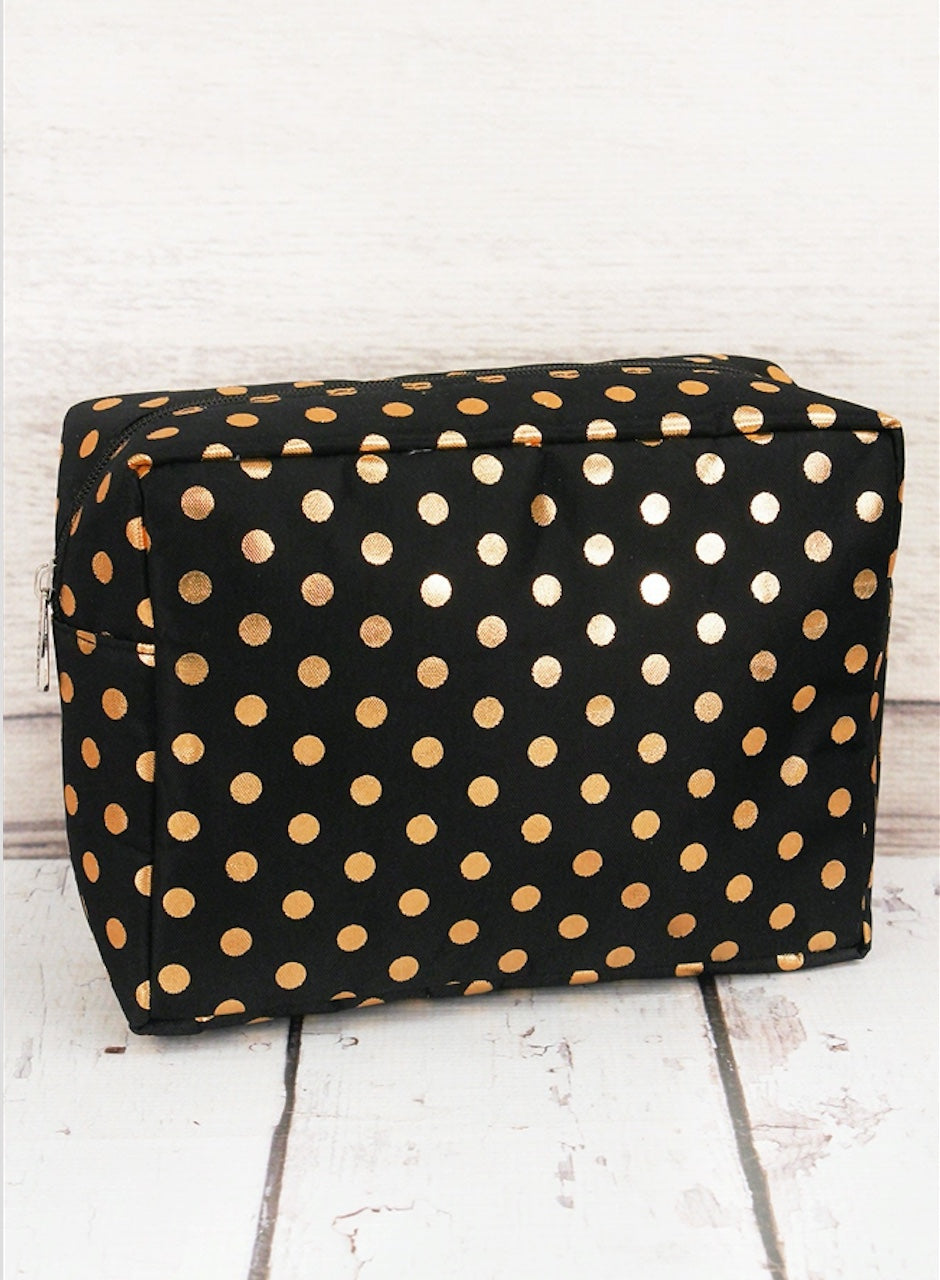 Polka Dot Cosmetic Case