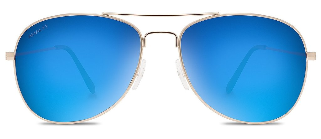 Avery Sunglasses Gold Frame Polarized Blue Mirror Lenses