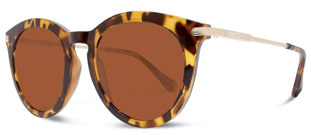 Bella Sunglasses Gloss Tortoise/Gold Frame Polarized Brown Lenses