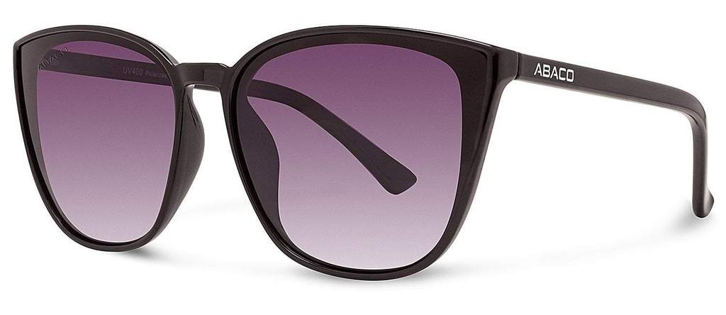 Chelsea Sunglasses Gloss Black Frame Grey Gradient Polarized Lenses
