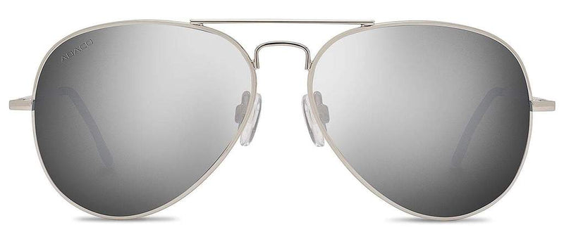 Dakota Sunglasses Silver Frame Polarized Chrome Mirror Lenses