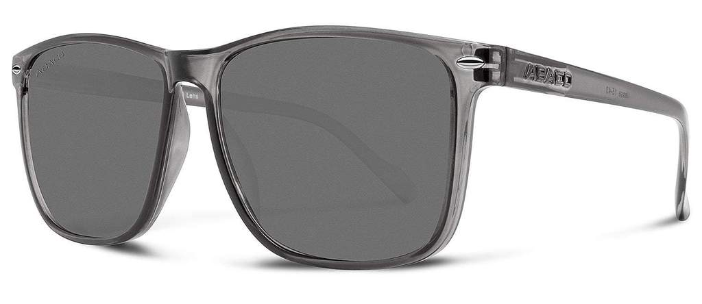 Jesse Sunglasses Crystal Grey Frame Polarized Grey Lenses