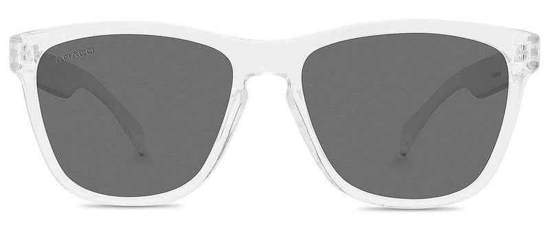 Kai Sunglasses Crystal Clear Frame Polarized Grey Lenses