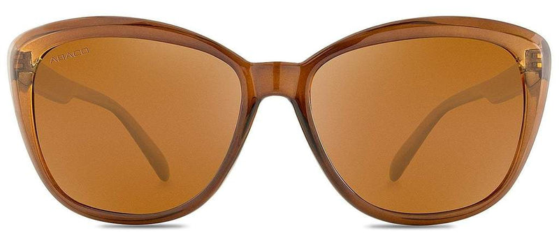 Kateye Sunglasses Crystal Brown Frame Polarized Brown Lenses