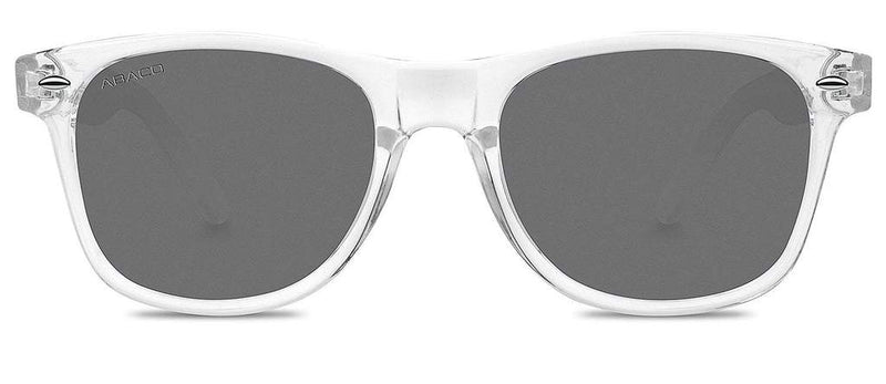 Laguna Sunglasses Crystal Clear Frame Polarized Grey Lenses