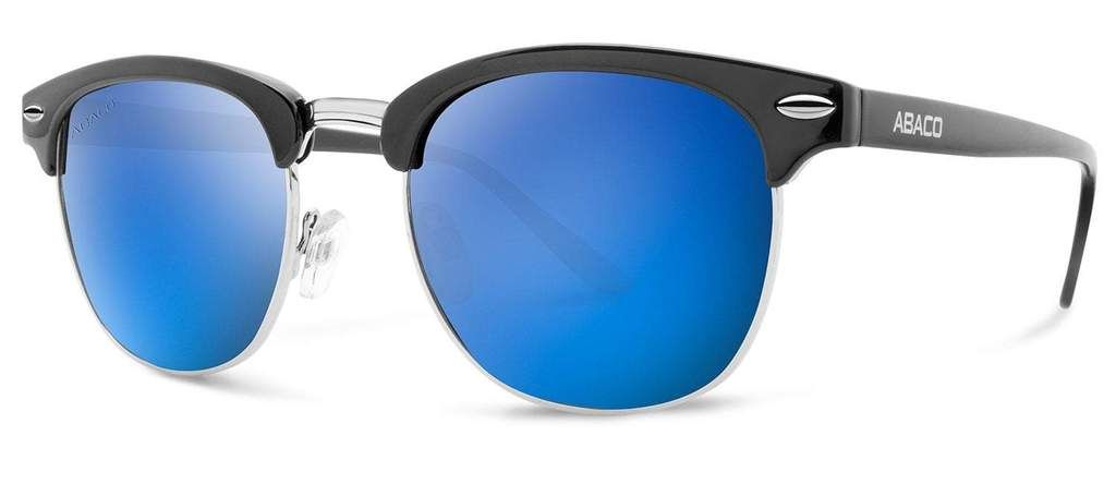 Montana Sunglasses Gloss Black Frame Blue Mirror Polarized Lenses