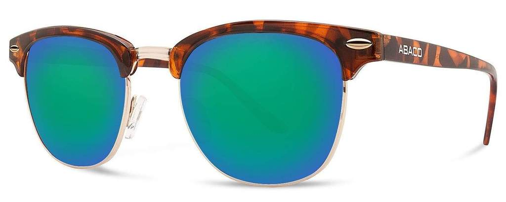 Montana Sunglasses Gloss Tortoise Frame Polarized Ocean Mirror Lenses