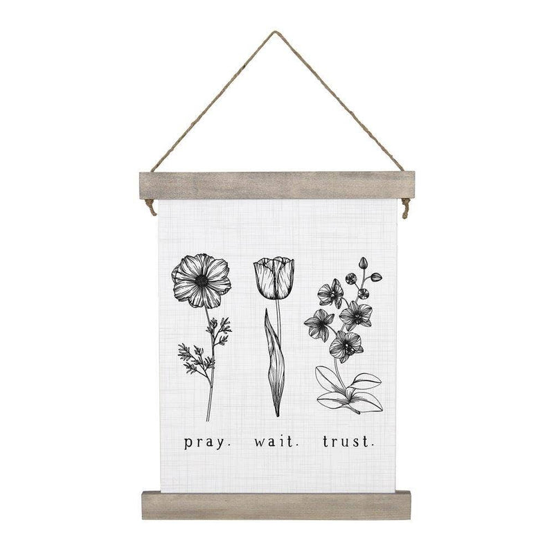 Pray. Wait. Trust. Hanging Canvas