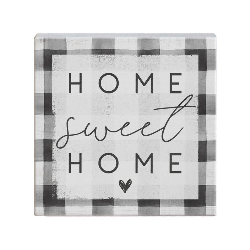 Home Sweet Home Plaid Sign