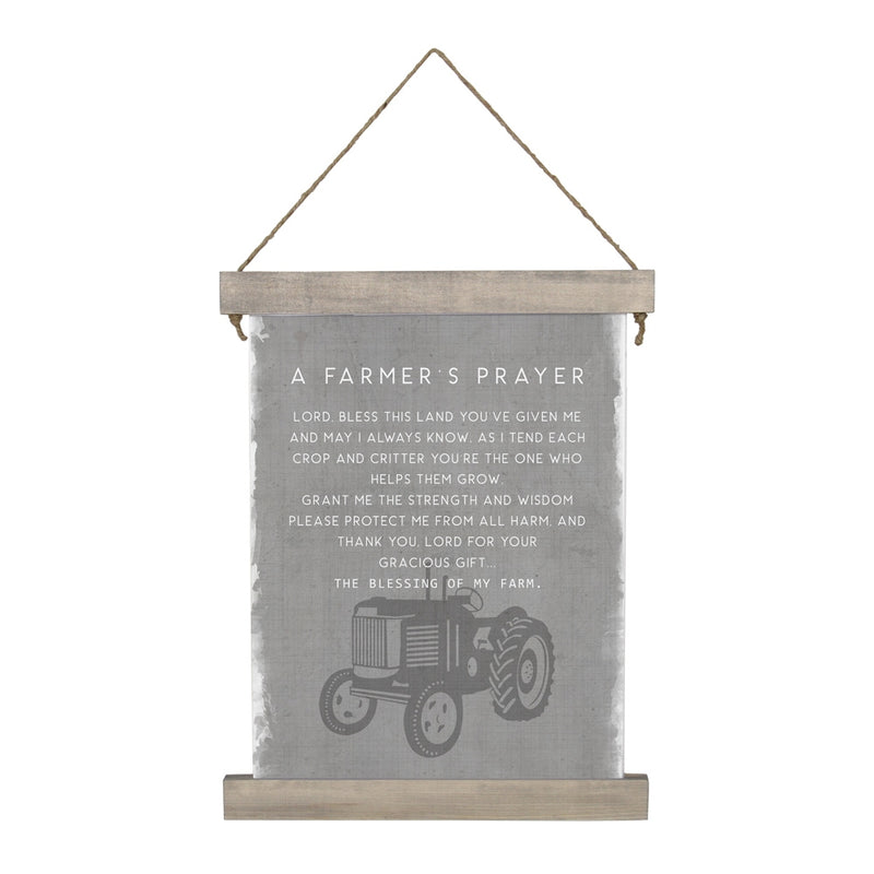 Farmers Prayer Hanging Canvas
