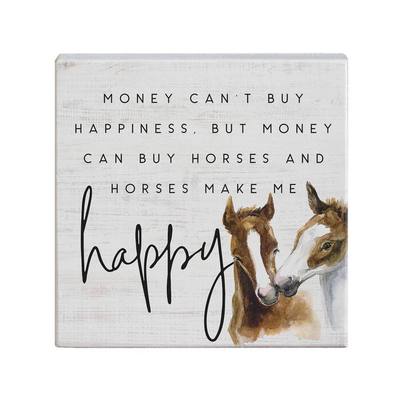 Horses Happy Sign