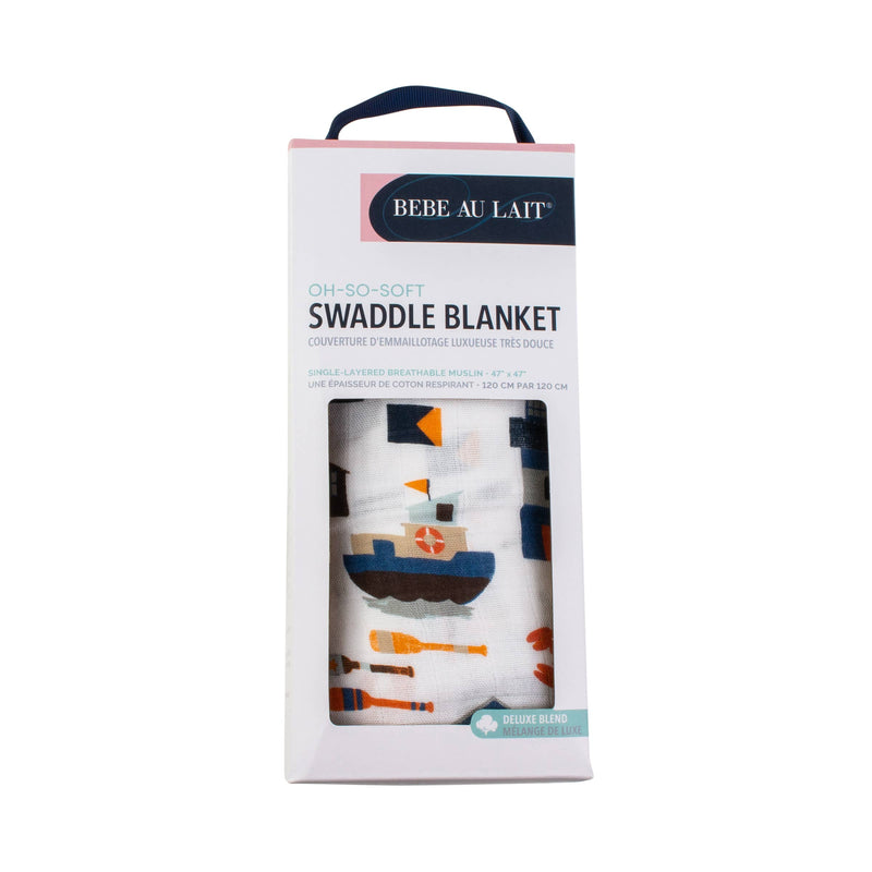 Nautical Single Oh-So-Soft Muslin Swaddle Blanket