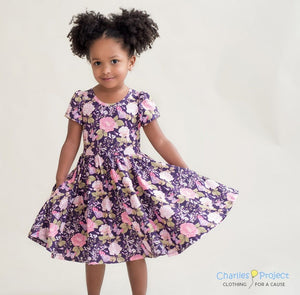 Lilac Butterfly Dress