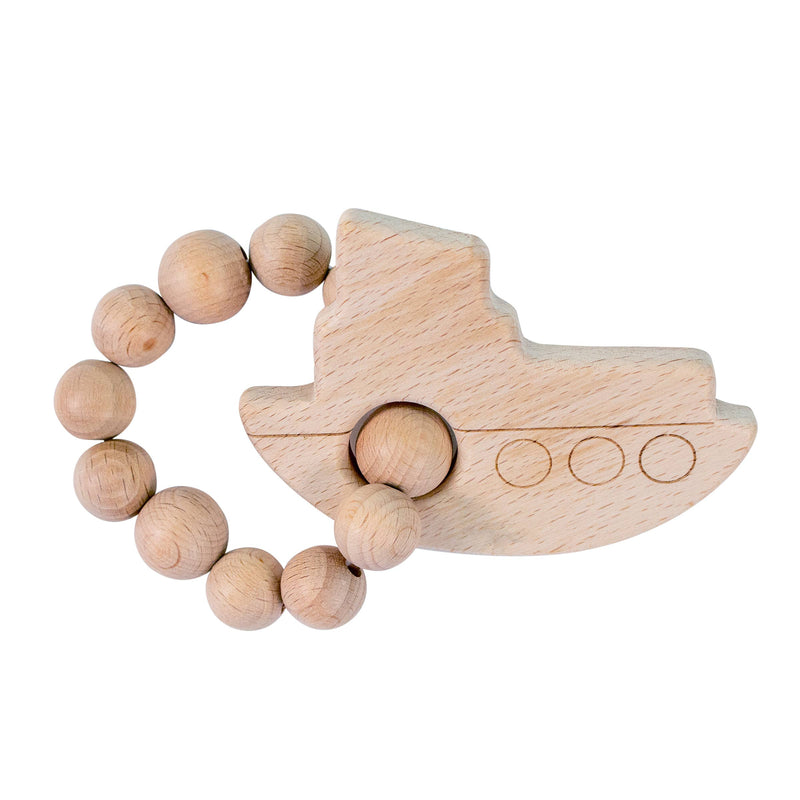 Tug Boat Natural Wooden Teether