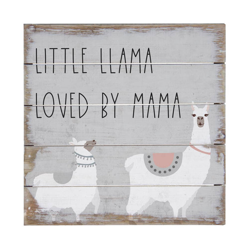 Little Llama Box Sign