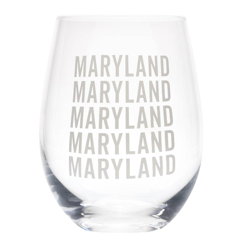 Maryland Wine Glass