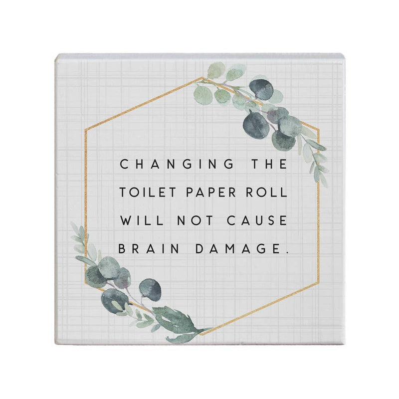 Changing Toilet Paper Roll Sign