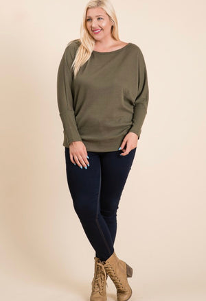 Black Dolman Sleeves Top