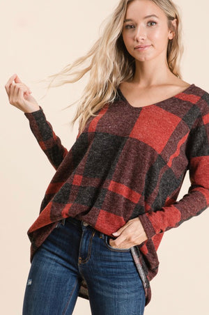 Red/Black Checker Top