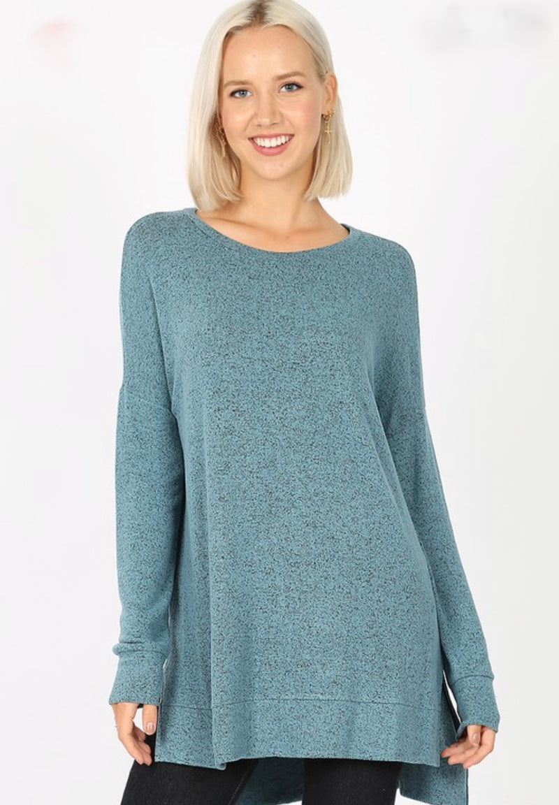 Claudia Teal Sweater