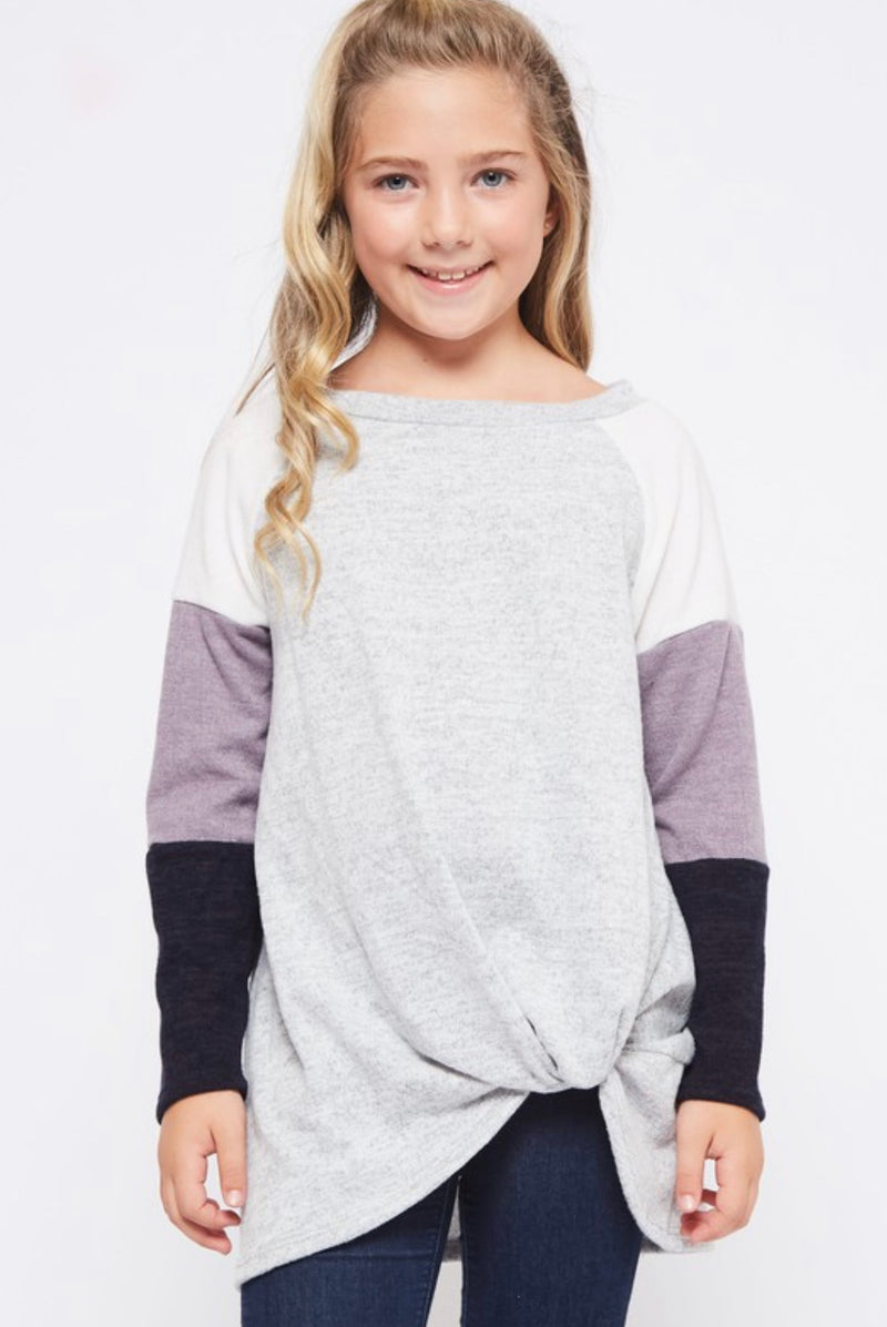 Girls Color Block Top