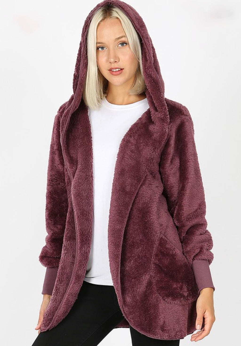 Faux Fur Cocoon Jacket