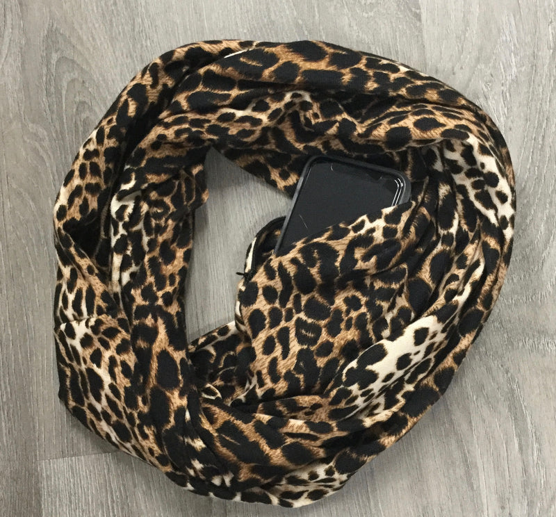 Leopard Pocket Scarves