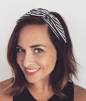 B&W Stripes Byrd Headband