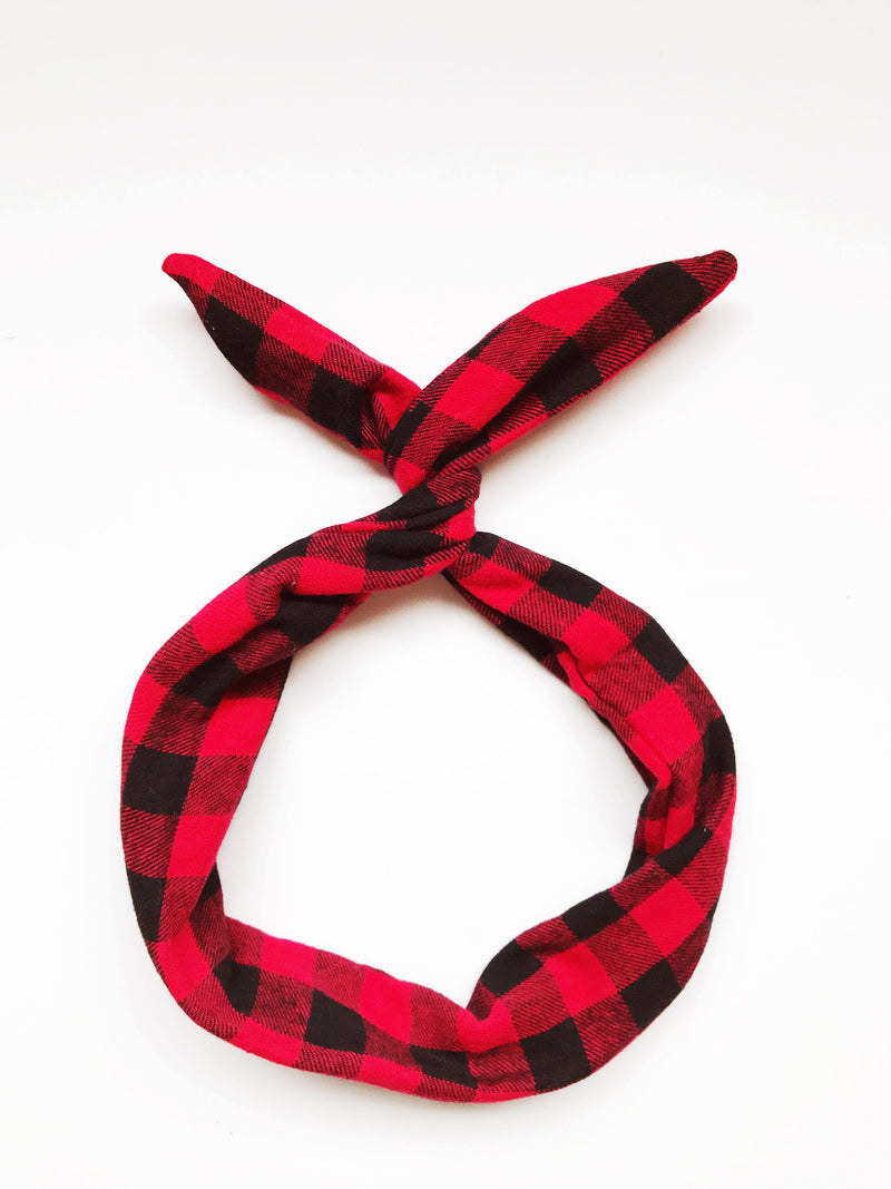 Red and Black Buffalo Plaid Byrd Headband