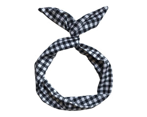 B&W Gingham Byrd Headband