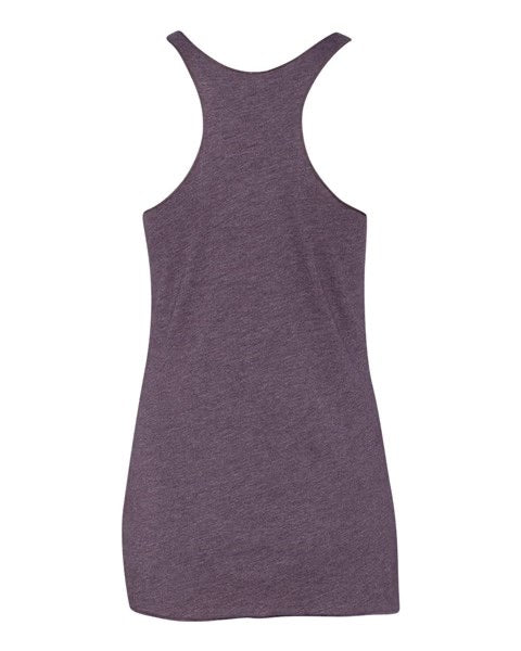 Purple Tri-Blend Raw Edge Tank