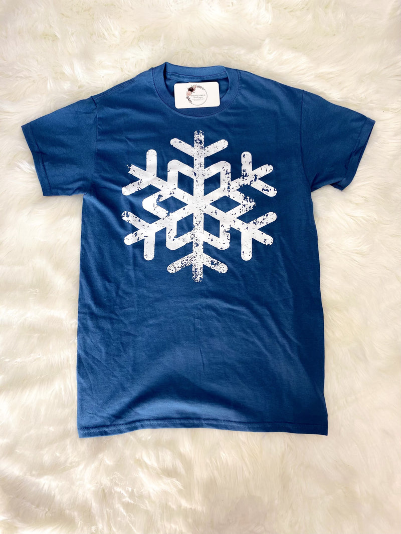 *BFDB* Distressed Snowflake Graphic Tee