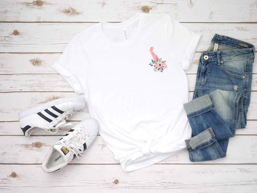 Watercolor State Tee