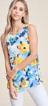 Pamela - Floral Sleeveless Top