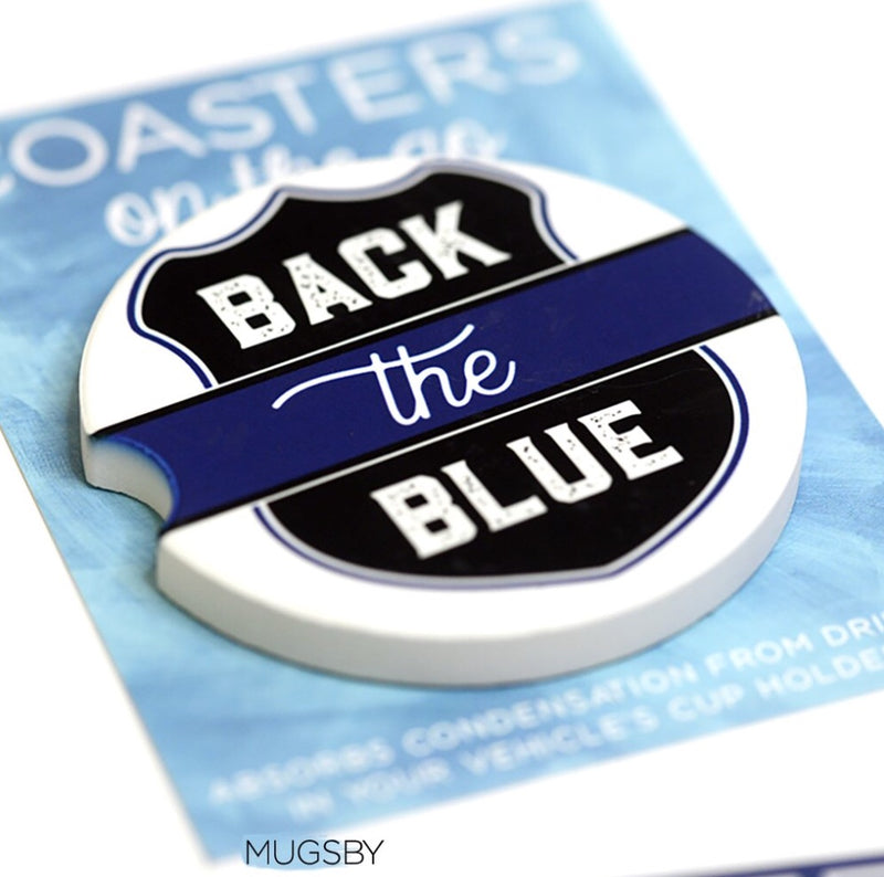Back the Blue Car Coaster