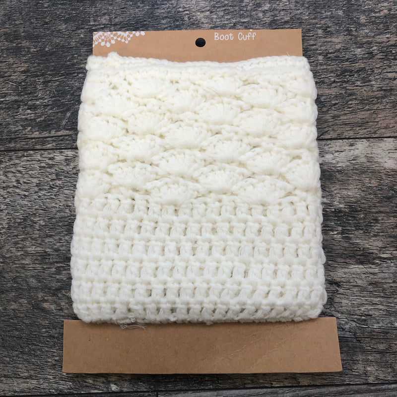 Ivory Chunky Knit Boot Cuff