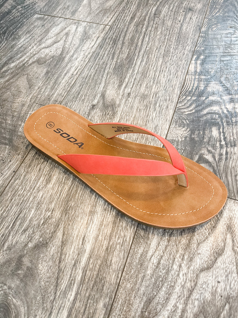 Ella- Burnt Orange Flip Flops