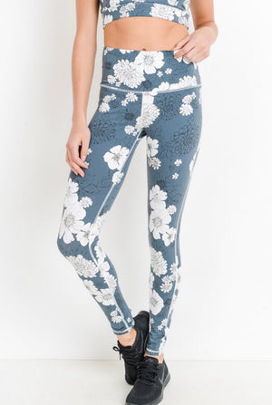 Blue Poppy Leggings