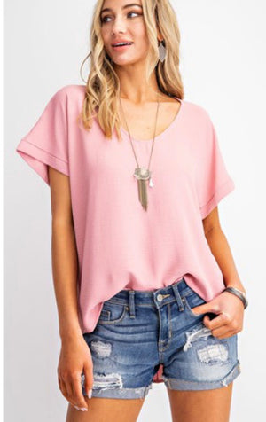 Cameran- Mauve Short Sleeve Top