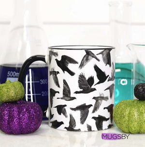 Full Raven Wrap Coffee Mug