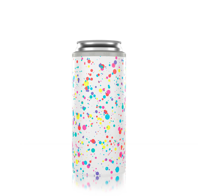 Slim Can Cooler Paint Splatter