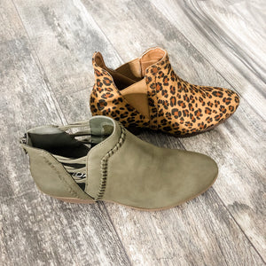 Olive Booties