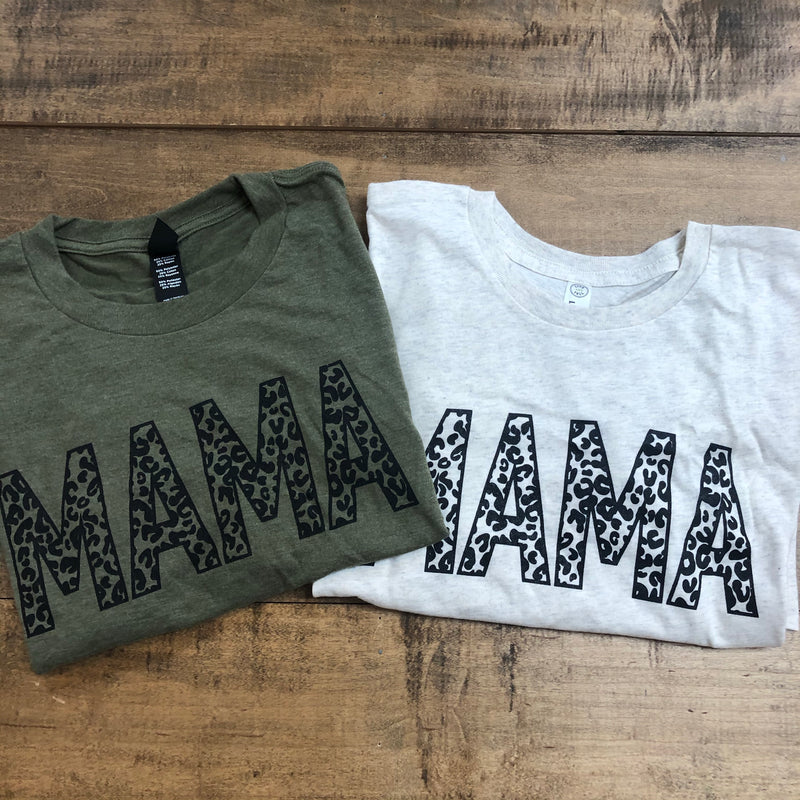 Leopard MAMA Graphic Tee+ Multiple Colors