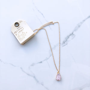 Pink Faux Druzy Necklace