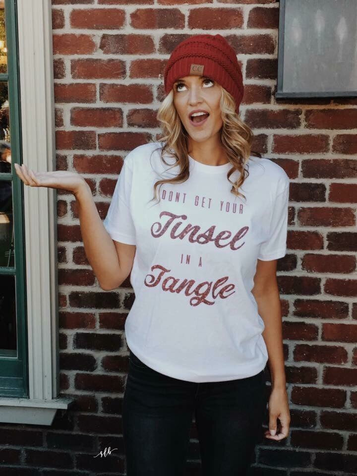 Don't Get Your Tinsel in a Tangle Graphic Tee
